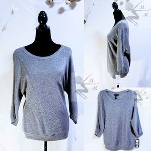 🆕Kenneth Cole Gray/Silver Sweater size L🦄